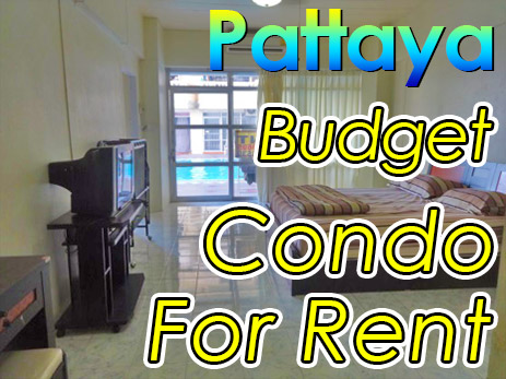 Cheap budget apartment condo rental in Pattaya city Thailand.