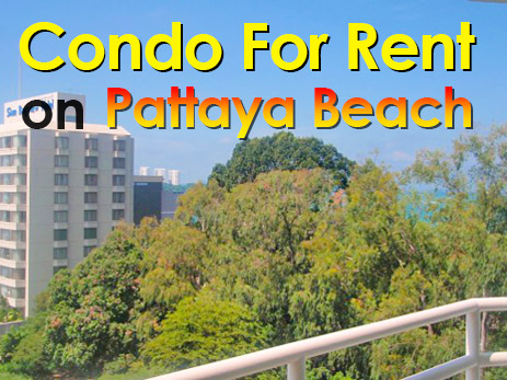 Condo for rent on Pattaya Beach (Thailand) in View Talay 6 condominium.