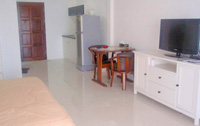 Fully furnished apartment, including Refrigerator, Microwave, Flat Screen Television, Sofa, Working Desk, Bed Side Table, Closet / Wardrobe etc., with view of the beautiful Pattaya Bay.