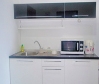 Pattaya city apartment with fully equipped European Kitchen.