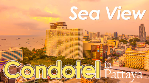 Sea view condotel and services apartment for rent (long and short term rentals) in Pattaya.
