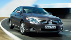 Taxi from Pattaya beach to Bangkok Airport (Don Muang or Suvarnabhumi) with Toyota Camry cheap transportation.